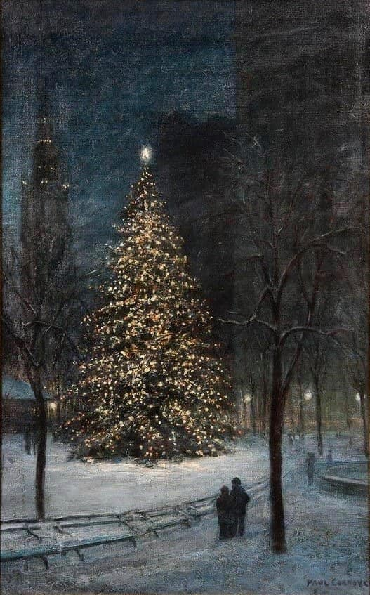 Christmas in Madison Square Paul Cornoyer